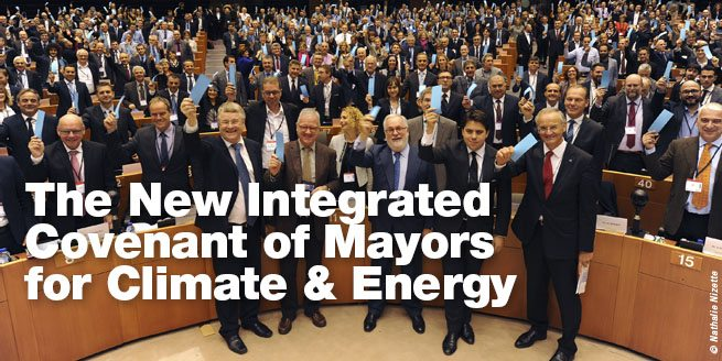 Photo: The New Integrated Covenant of Mayors for Climate & Energy. Photo: Nathalie Nizette