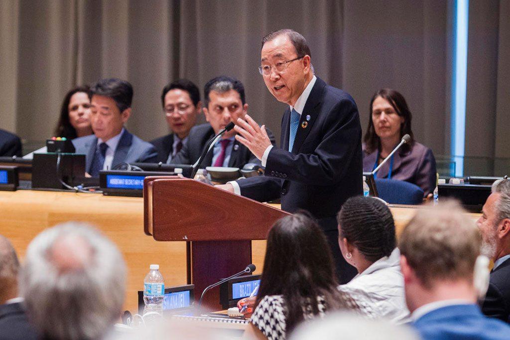 Photo: Secretary-General Ban Ki-moon addresses the Ministerial Segment of the ECOSOC High-level Political Forum on Sustainable Development. UN Photo/Manuel Elias