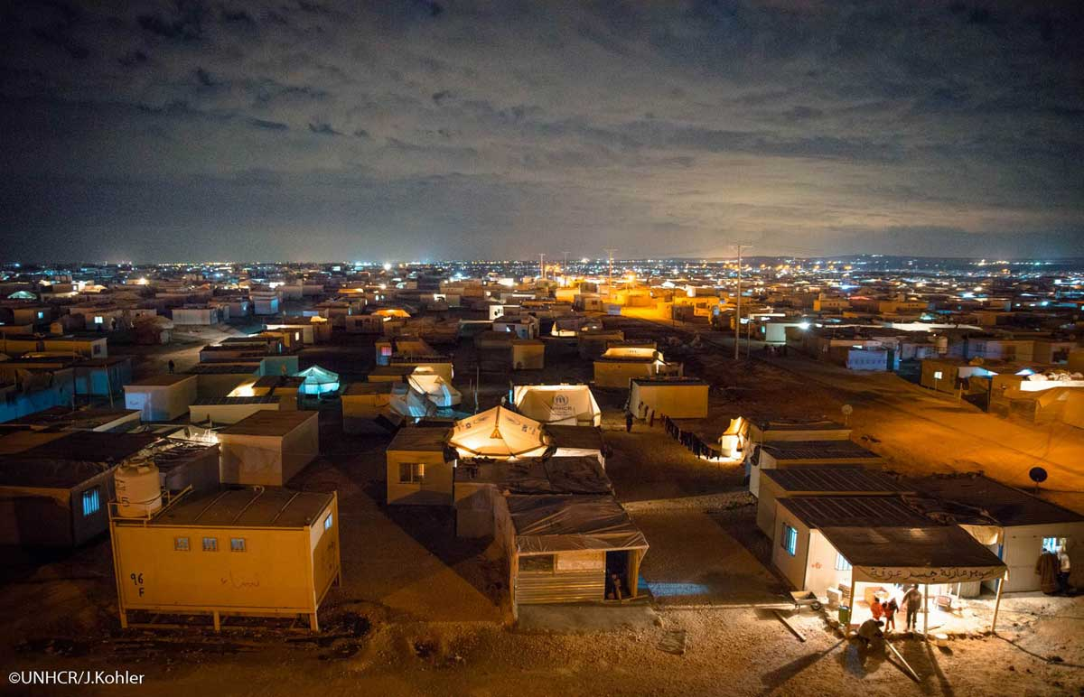 Photo: Refugee tent camp