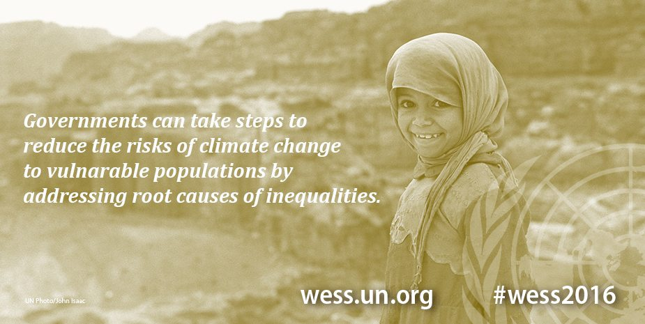 Digital card: Climate change takes the largest toll on poor and vulnerable people.