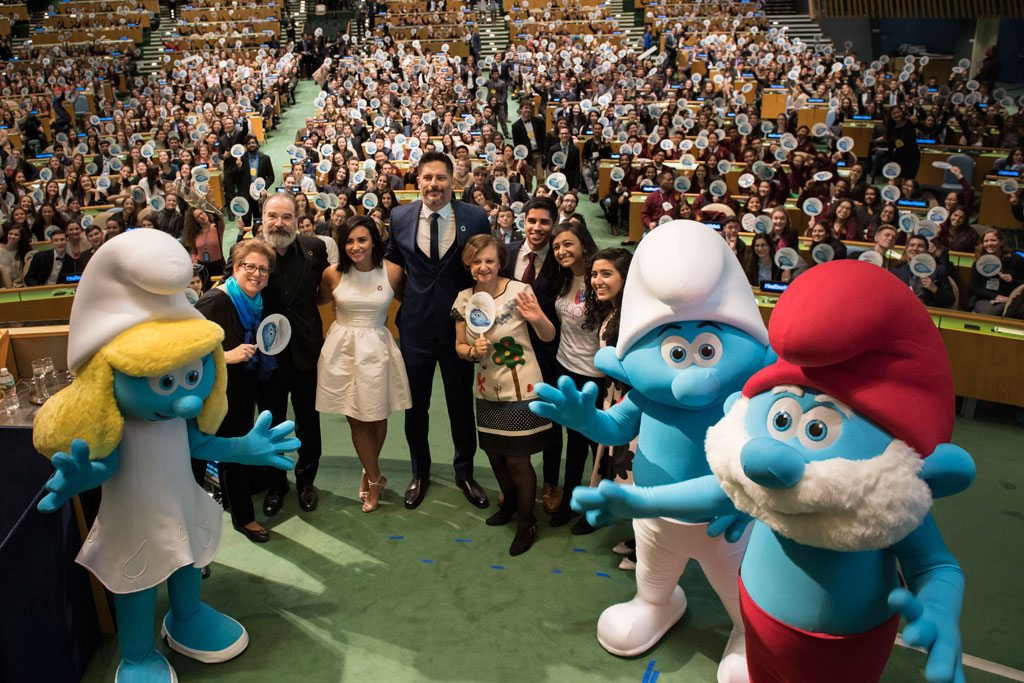 Smurfs and Model UN celebrate International Day of Happiness