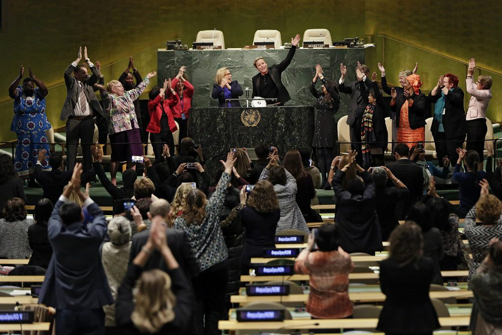 Photo: The Launch of the Equal Pay Platform of Champions at the UN General Hall on 13 March 2016.