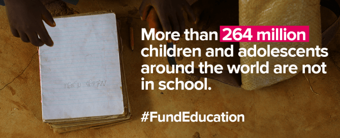 Infographic: More than 264 million children and adolescents are not in school.