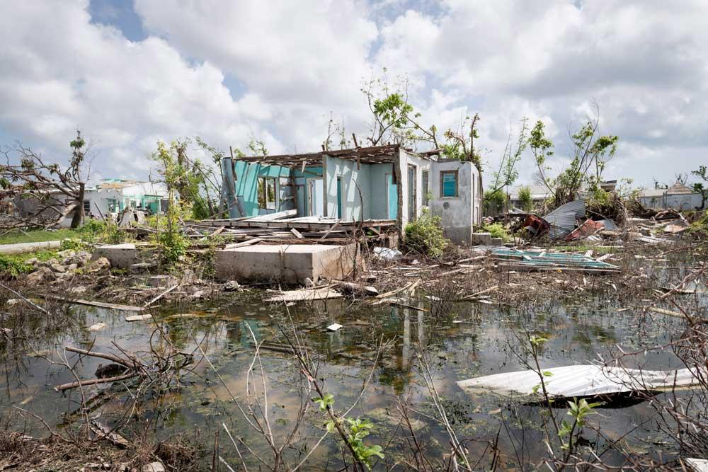 Photo: Hurricane damage in Barbuda.