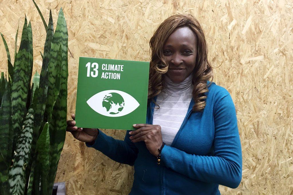 Marie Tamoifo, President of l'Association Jeunesse verte du Cameroun (AJVC) and Coordinator of the Réseau des jeunes pour la gestion durable des écosystèmes forestiers d'Afrique centrale (REJEFAC). Photo: UN News/Jerome Bernard
