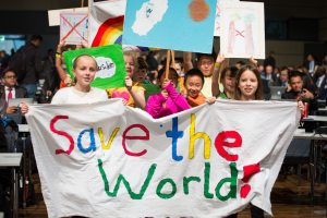 PHOTO: Children demand climate action at the opening of COP23 in Bonn.