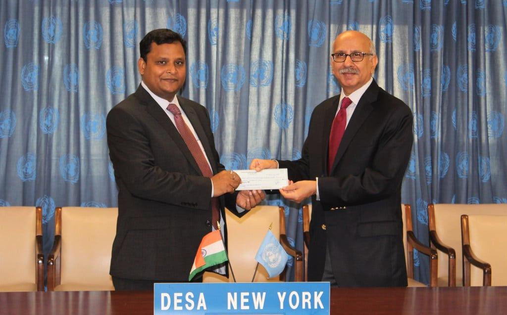 Photo: India makes a US$100,000 contribution to increase the role developing countries play in tax policy regarding sustainable development.