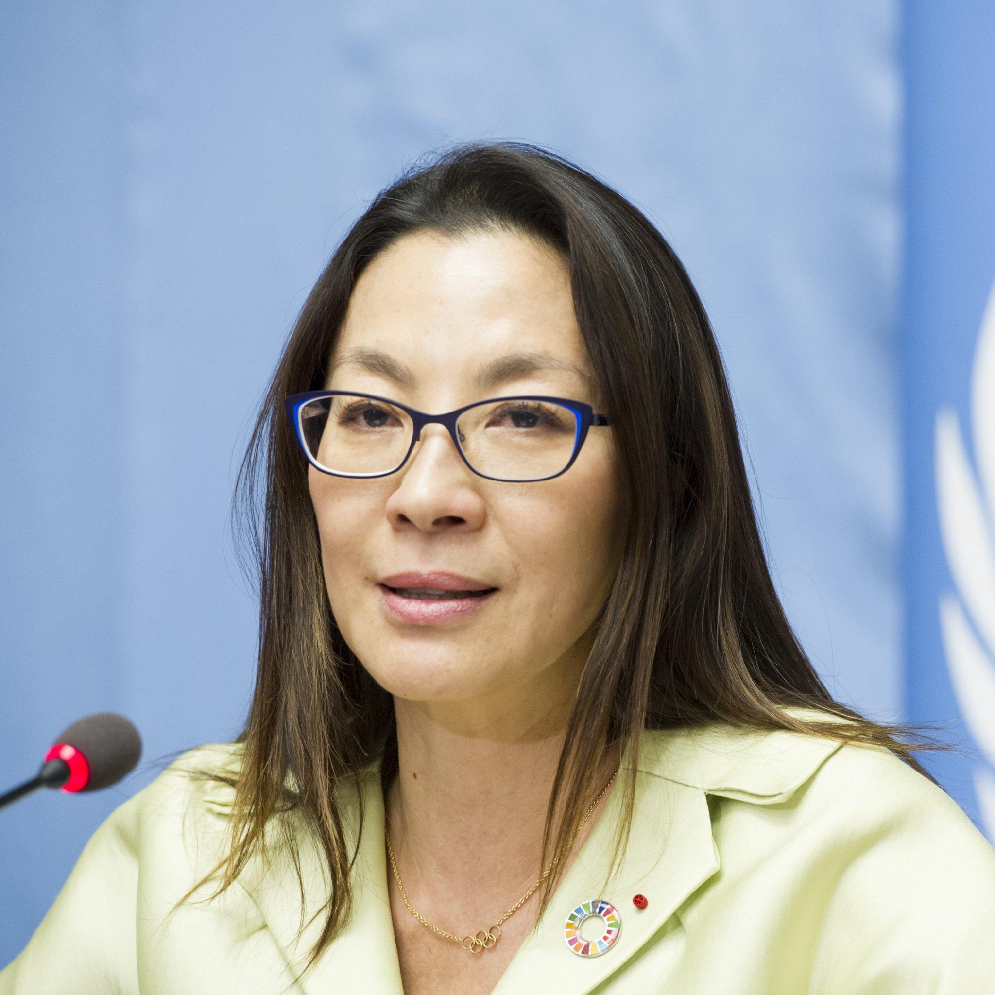Photo of Michelle Yaoh, UNDP Goodwill Ambassador