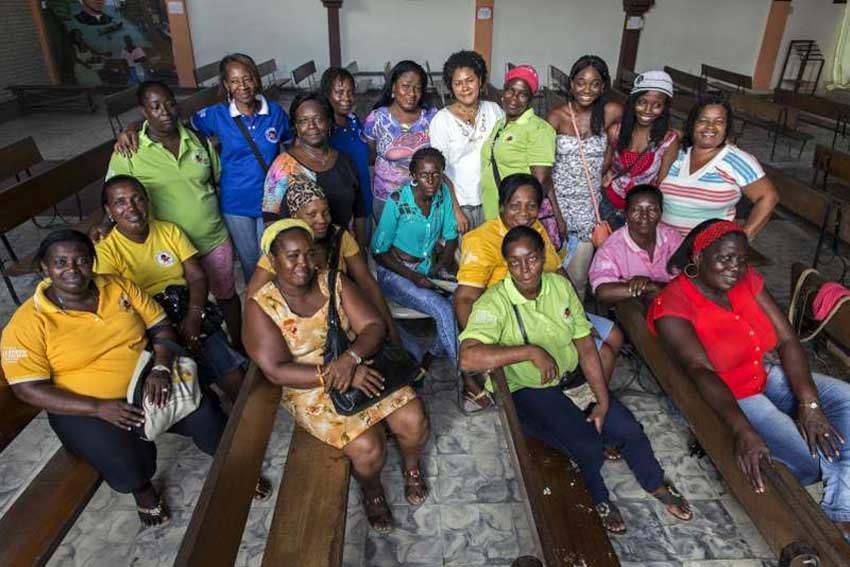 The 19 coordinators of Butterflies, a women's rights network in Colombia, which also has 100 core volunteers. They put their lives on the line to assist forcibly displaced women and those who have been subject to sexual or physical violence. Photo: UNHCR/L. Zanetti