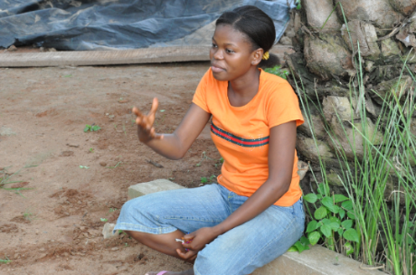 Cybelle Agossou, the youngest of family of six children, decided to enroll in practical training course to become self-employed and help her parents. Credit: UNDP Benin