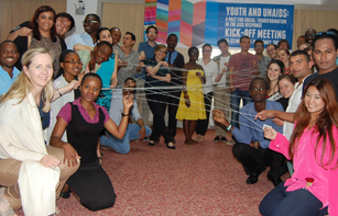 Participants at the Youth and UNAIDS event held in Hammamet, Tunisia from the 20th to 22nd of May. Credit: UNAIDS