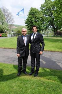 Alhendawi with UNFCCC Chief of Staff, Mr. Daniele Violetti