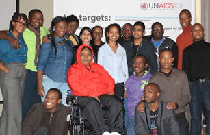 Young participants at the UNAIDS workshop in South Africa. Credit: UNAIDS