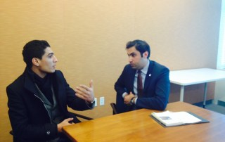 Assaf discusses youth issues in conflict zones with Alhendawi
