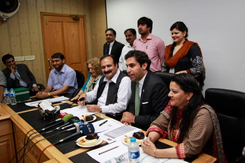 Press conference with the Provincial Minister of Youth Affairs, Mr. Rana Mashood Ahmed Khan.