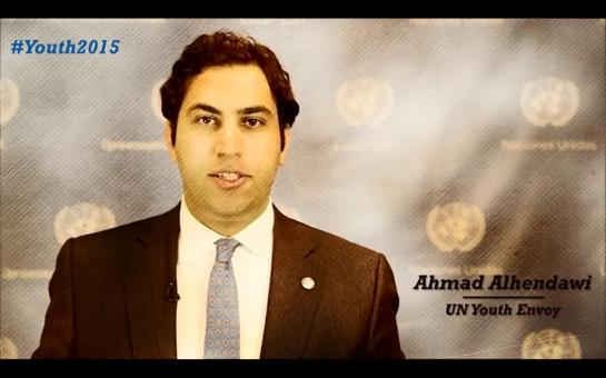 Click on the image to watch a video for the ECOSOC Forum on Youth with Ahmad Alhendawi.