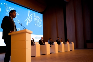 The opening of the First Global Forum on Youth Policies