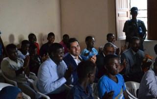 Ahmad Alhendawi in Somalia with youth