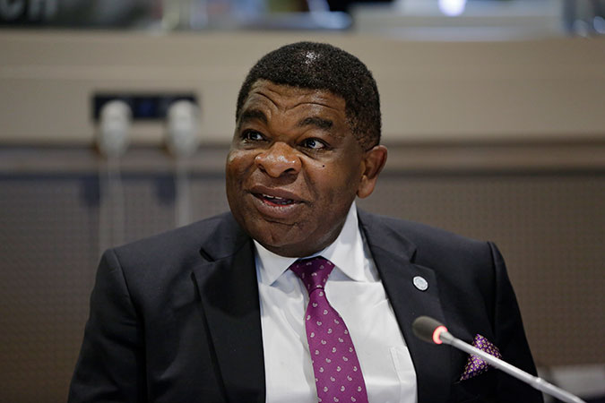 """IPU Secretary General Martin Chungong speaks at the event """"The Roadmap for Substantive Equality:2030"""" held at United Nations Headquarters on 14 February 2017. Photo: UN Women/Ryan Brown"""