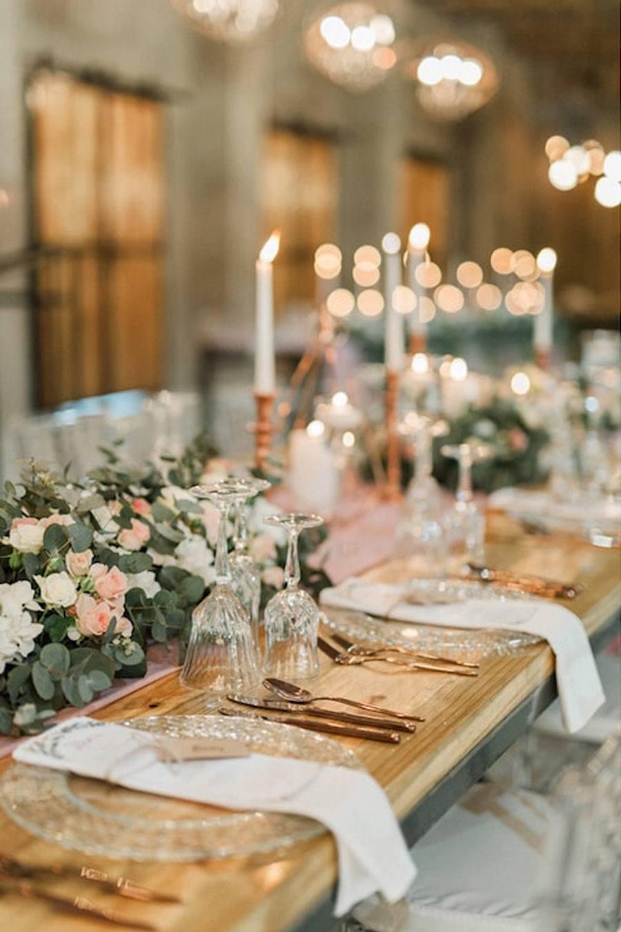 DECORACIN DE BODA EN ROSA Y ORO  Blog de bodas de Una Boda Original
