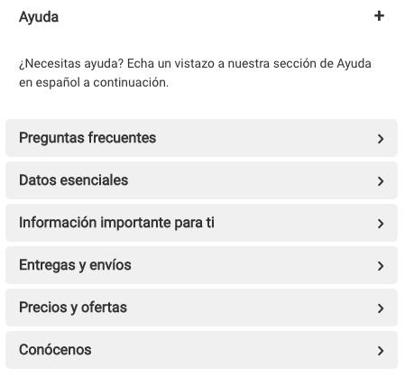 book depository ayuda en español