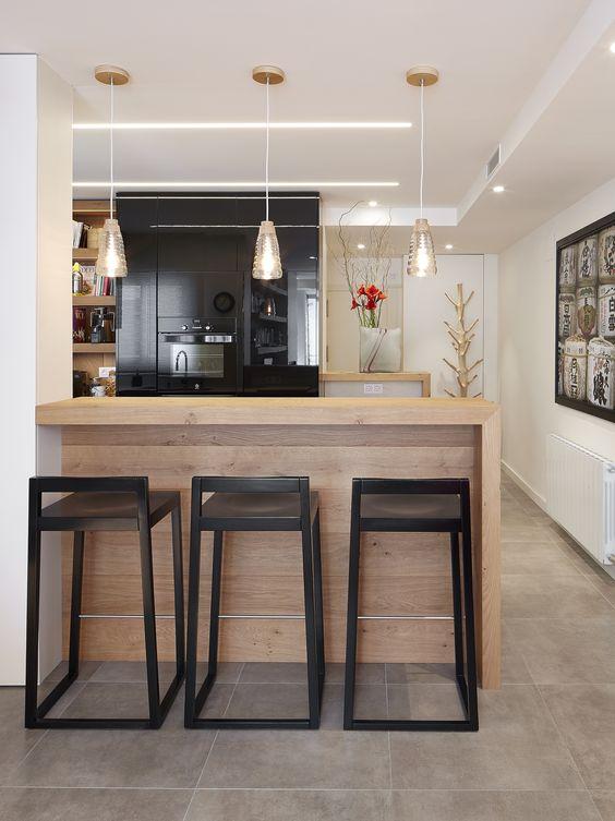 Taburetes altos en la cocina una gran idea  Una casa con