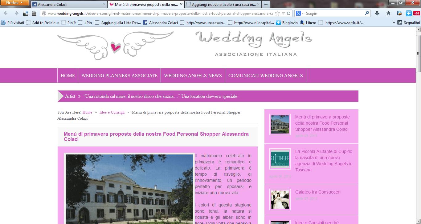 Menu di primavera per gli sposi - Wedding Angels - Una casa in campagna