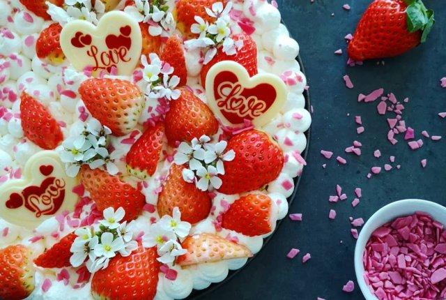 Cheesecake di San Valentino di una Cucina a Pois