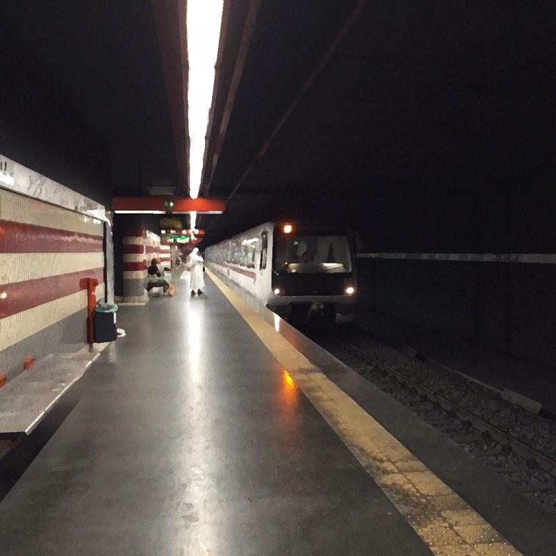 Treno metro Roma