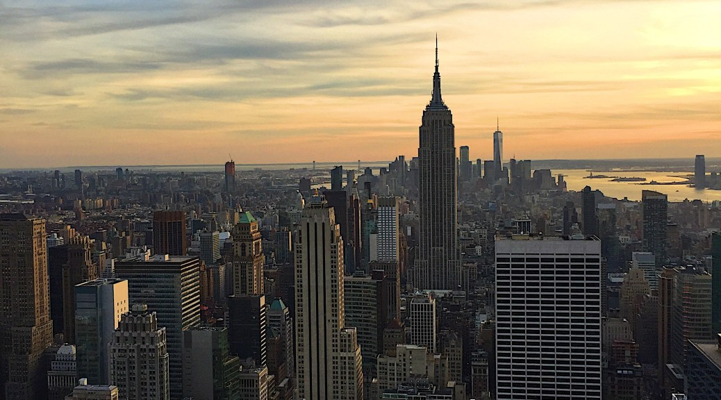 Top of the rock view NYC