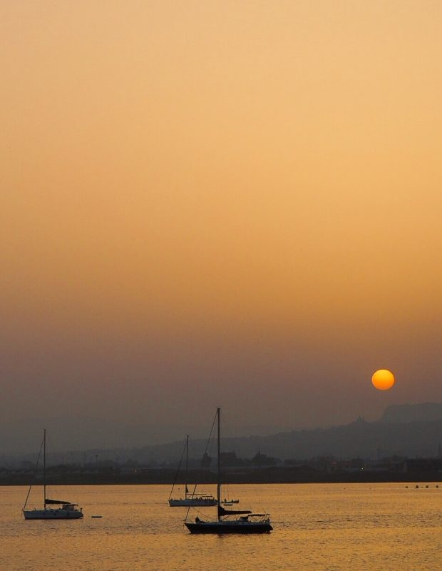 Tramonto marina Siracusa, terra di Archimede