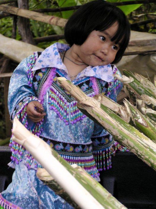 bimba tribu di montagna Thailandia del Nord