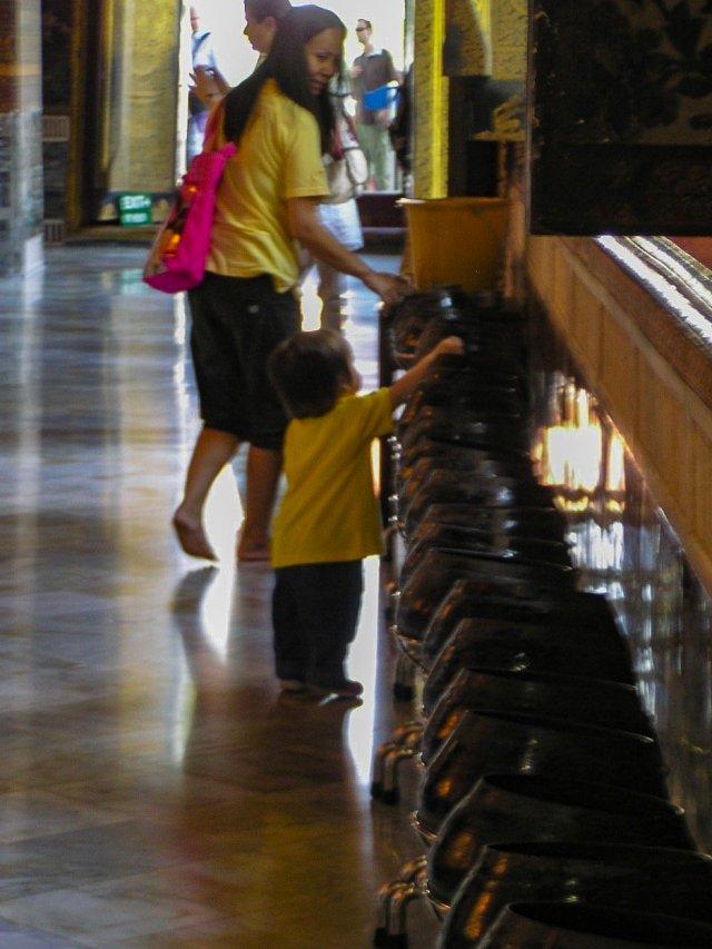 Campane in un tempio a Bangkok
