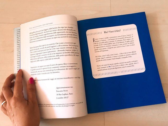 Blu libro Philippe Petit Creatività