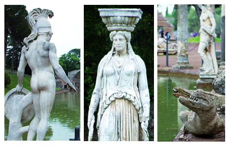 Statue a Villa Adriana, Tivoli