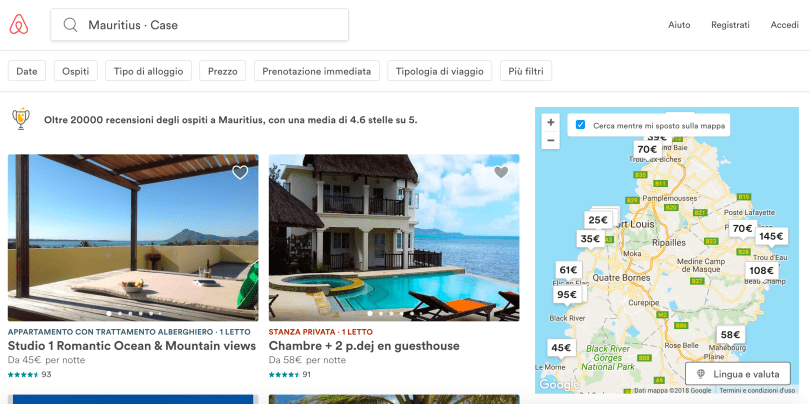 airbnb mauritius case vacanza