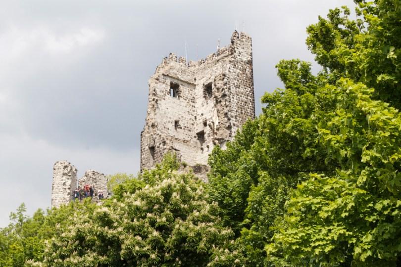 le rovine del castello del 1200
