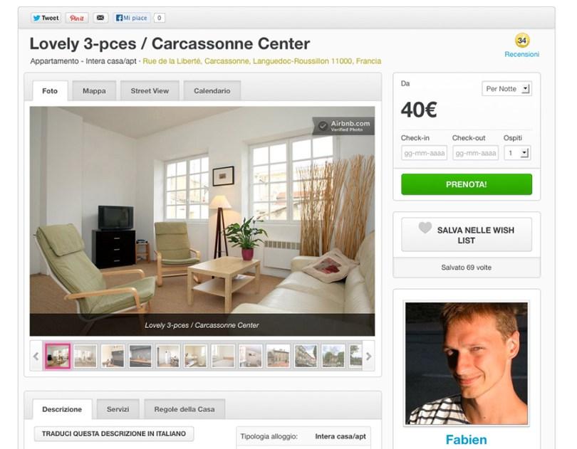 Appartamento in affitto a Carcassone su Airbnb.