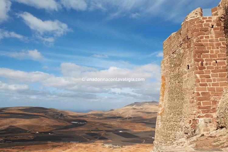 Veduta dal Castillo di Santa Barbara, Teguise, Lanzarote