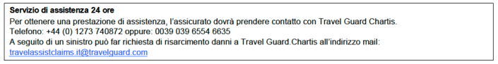 Numeri telefonici di assistenza Travelguard