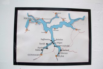 percorso crociera sognefjord norvegia