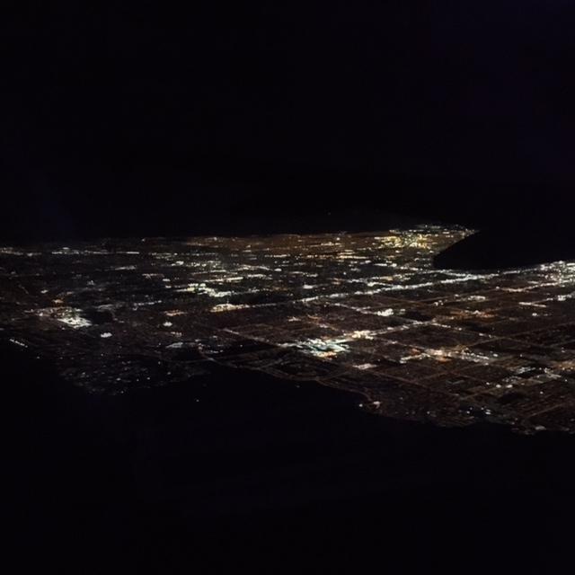 Las Vegas vista dall'aereo