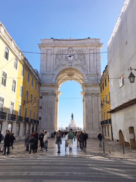 Arco Rua Augusta Praca do Commercio