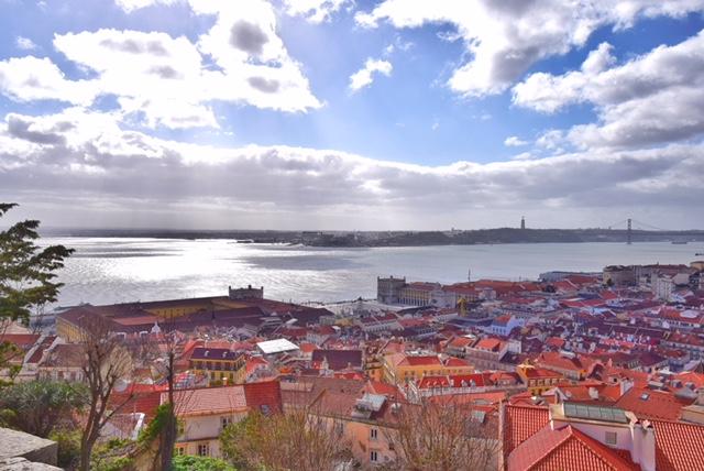 Vista Lisbona Castello di Sao Jorge