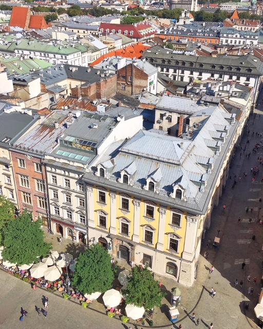 Vista sulla Città Vecchia di Cracovia dalla Basilica di St. Mary
