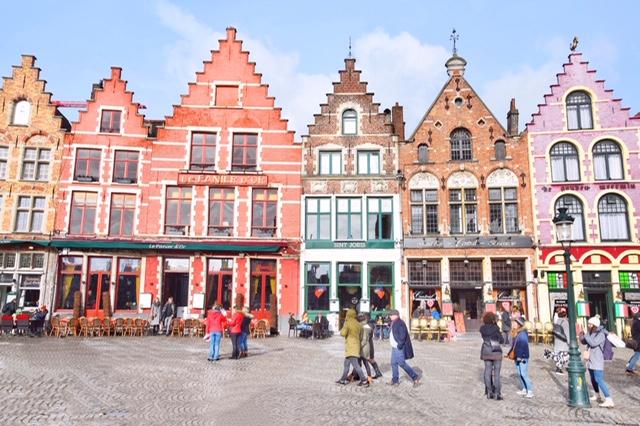 Edifici tipici Grote Markt Bruges