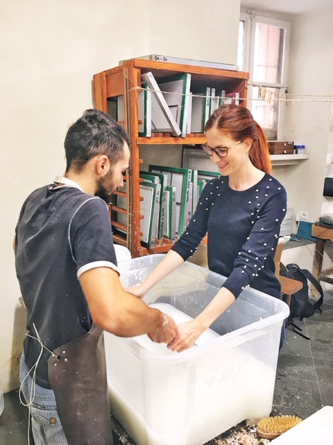 Workshop di fabbricazione carta da Toscolano 1361
