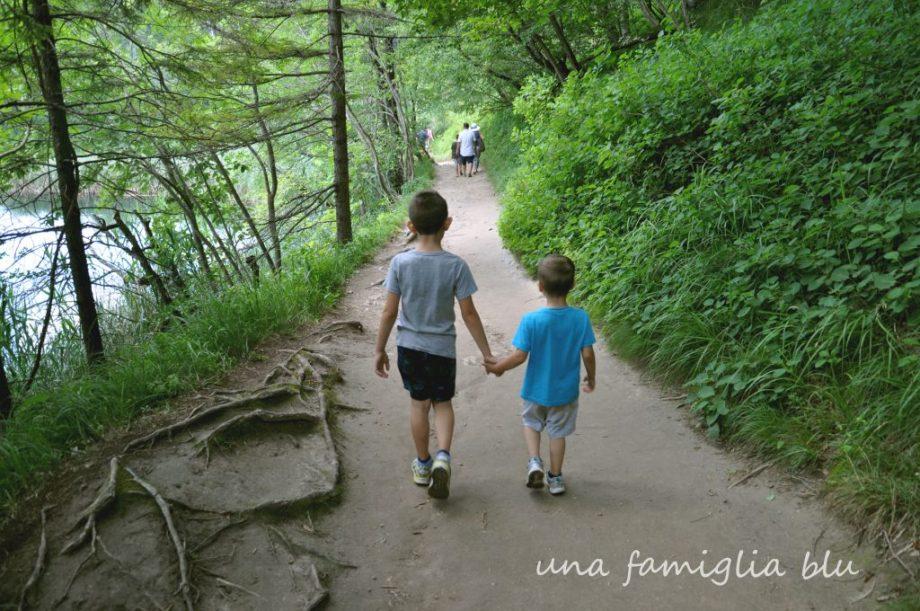 laghi di plitvice con i bambini