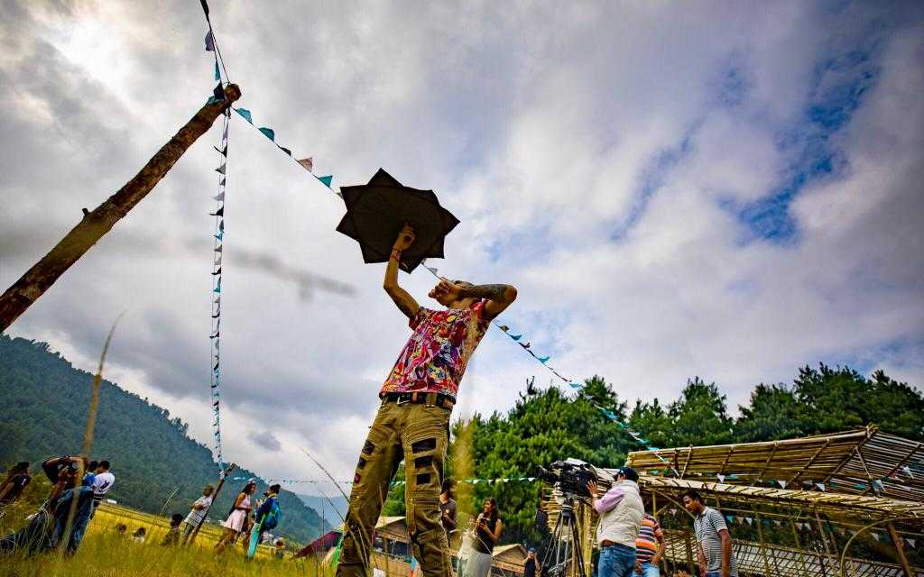 What's the venue for Ziro music festival like in northeast India?