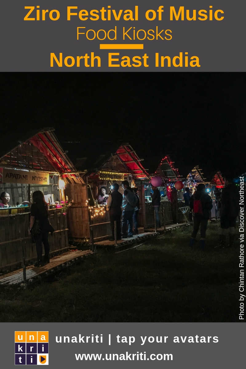 Whats the food like at Ziro Music Festival in northeast India?